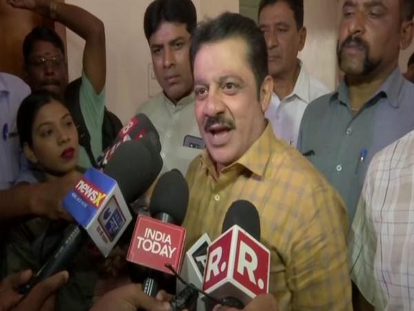 Chamarajpet MLA B Z Zameer Ahmed Khan speaks to media in Bengaluru on Saturday [Photo/ANI]