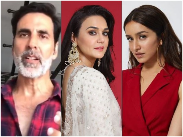 Akshay Kumar, Preity Zinta and Shraddha Kapoor (Image courtesy: Instagram)
