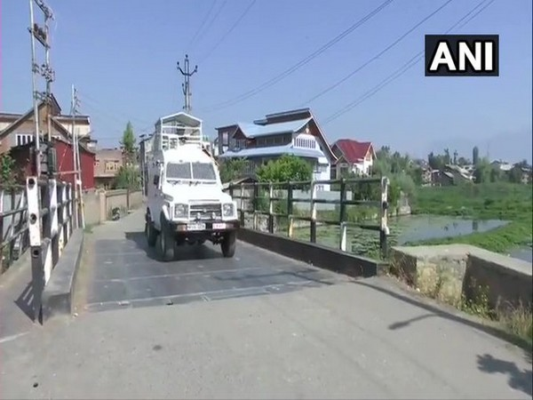 Visual from Zadibal area in Srinagar where an exchange of fire took place between terrorists and security forces on Sunday. [Photo/ANI]