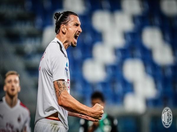 Striker Zlatan Ibrahimovic (Photo/AC Milan Twitter)