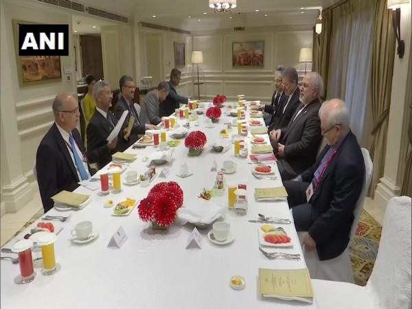 External Affairs Minister S Jaishankar and Iranian Foreign Minister Javad Zarif in New Delhi on Thursday.