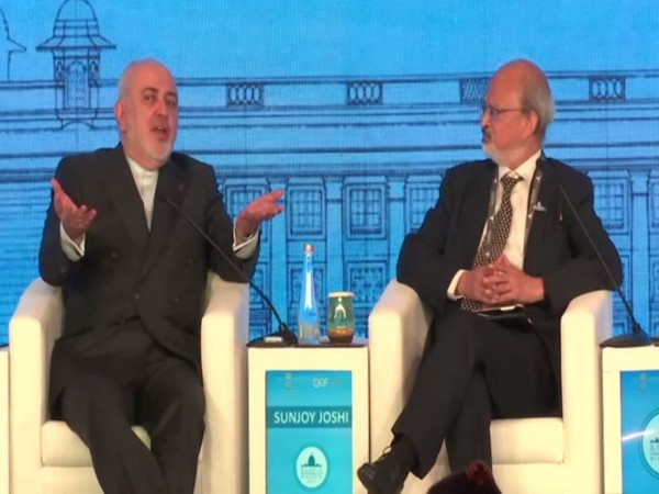 Iranian Foreign Minister Javad Zarif speaking at the Raisina Dialogue 2020 in New Delhi on Wednesday.