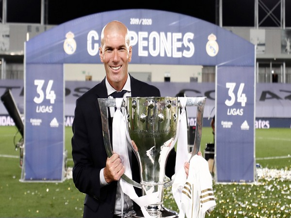 Real Madrid manager Zinedine Zidane (Photo/Real Madrid Twitter)