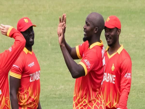 Zimbabwe players celebrate during a match (Photo/ ICC Twitter)