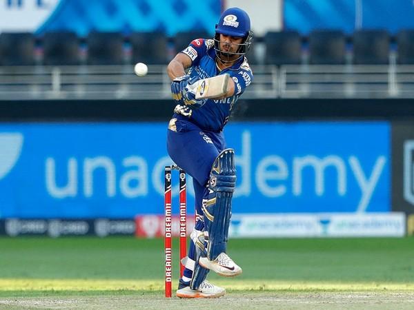 Mumbai Indians' Ishan Kishan in action against Delhi Capitals (Photo/ iplt20.com)