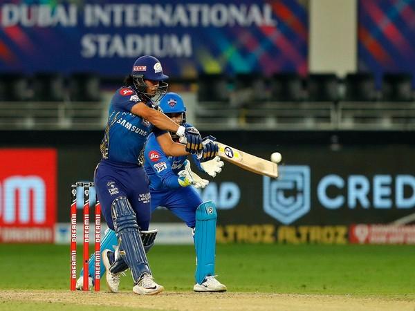 Mumbai Indians' batsman Ishan Kishan in action against Delhi Capitals. (Photo/ iplt20.com)