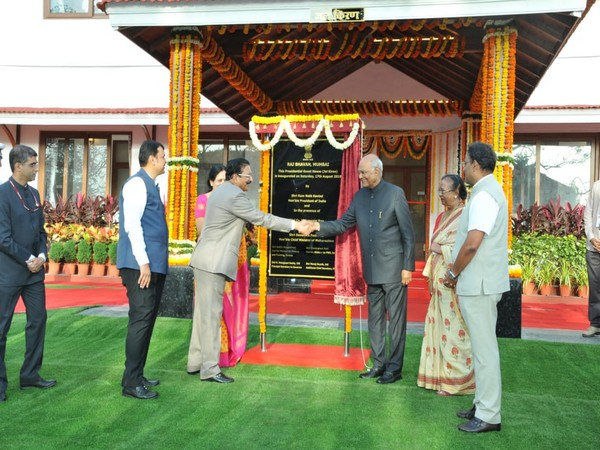 The president also unveiled a plaque in front of the refurbished and restored British-era twin cannons at Raj Bhavan.