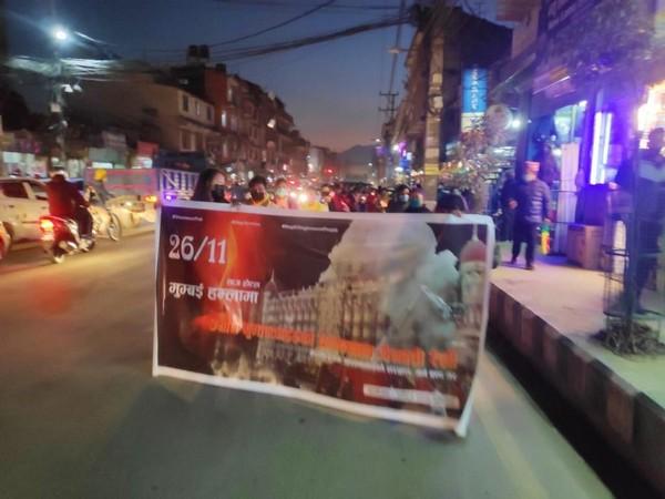 Demonstrators held candlelight march in Kathmandu on Friday (Photo/ANI)