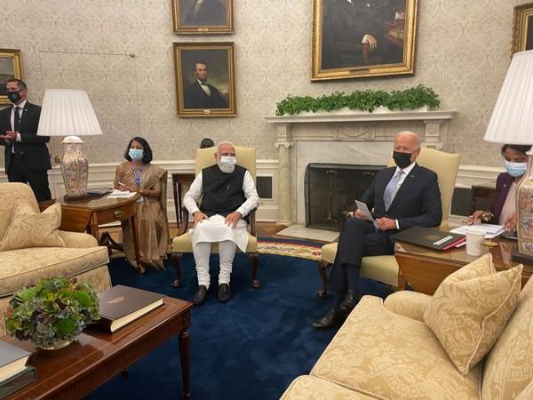 PM Modi during bilateral talks with US  President Joe Biden
