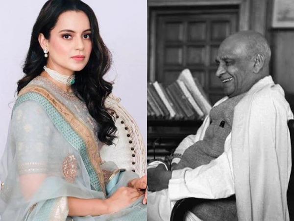 Actor Kangana Ranaut paid tributes to Sardar Vallabhbhai Patel on his birth anniversary on Saturday. (Image courtesy: Twitter)
