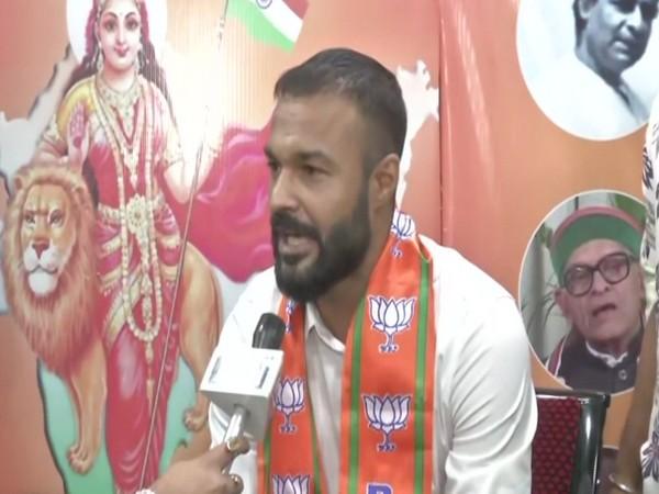 Footballer and new BJP joinee Arindam Bhattacharya speaking to ANI on Tuesday.