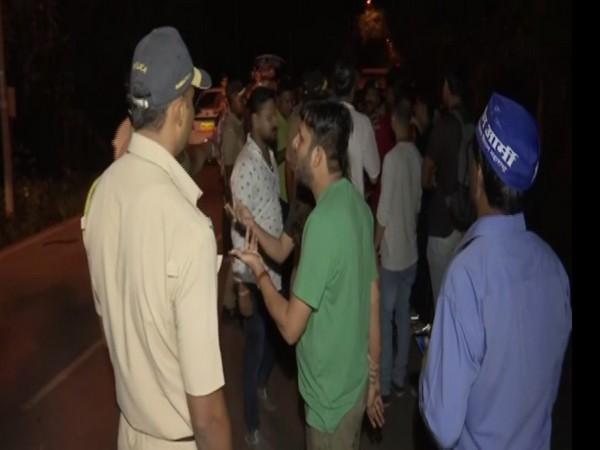 Protests in Mumbai. Photo/ANI