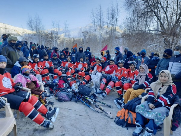 Ice Hockey emerged as a popular support in Kargil in they year 2005 [Photo/ANI]
