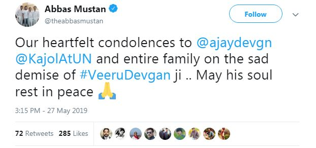 B-town mourns demise of Ajay Devgn's father Veeru