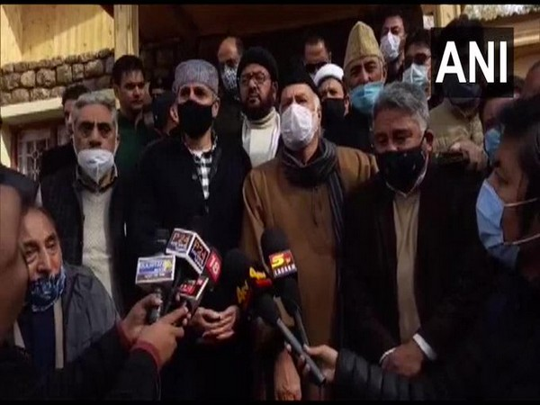 National Conference leader Omar Abdullah speaking to ANI in Kargil on Friday.