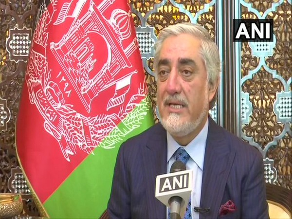 Afghan leader Abdullah Abdullah speaking to ANI in New Delhi on Saturday.