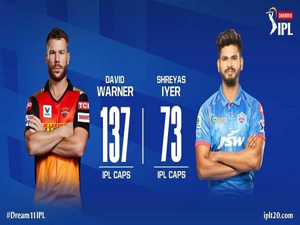 SRH skipper David Warner and DC captain Shreyas Iyer (Image: Indian Premier League's Twitter )