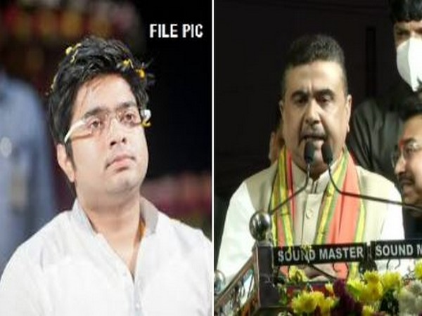 TMC MP Abhishek Banerjee (Left) and BJP leader Suvendu Adhikari. (File photo)