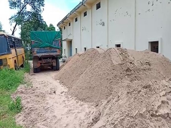 175 tonnes of sand were seized in Andhra Pradesh. (Photo/ANI)
