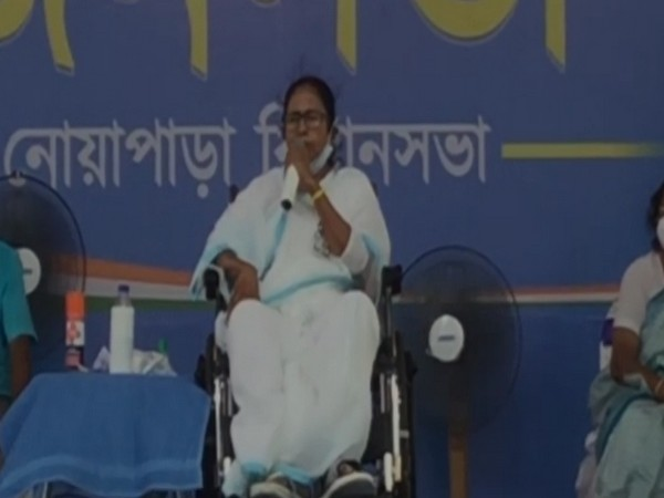 West Bengal Chief Minister Mamata Banerjee in Noapara on Friday.