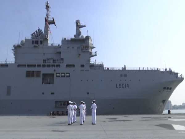 The amphibious assault helicopters carrier Tonnerre at Cochin International Cruise Terminal. (Photo/ANI)