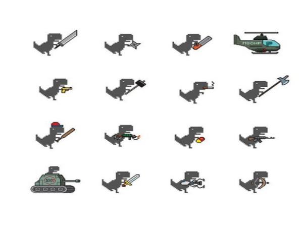 Various weapons in Dino Swords  (Image courtesy: MSCHF Instagram)