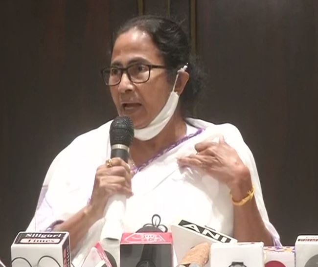 West Bengal Chief Minister Mamata Banerjee during a presser in Siliguri on Saturday. (Photo/ANI)