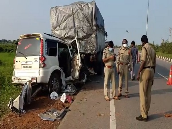 Visual of the accident site in Srikakulam district. (Photo/ANI)