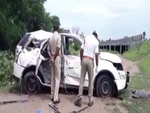 The injured were taken to Machilipatnam and Uyyuru govt hospitals after the incident. (Photo: ANI)