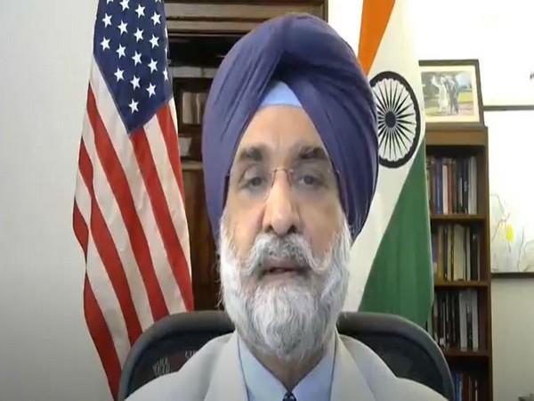 Indian Ambassador to the US Taranjit Singh Sandhu speaking to ANI.