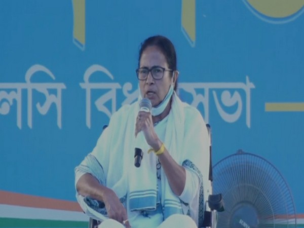 West Bengal Chief Minister Mamata Banerjee in Galsi on Saturday. (Photo/ANI)