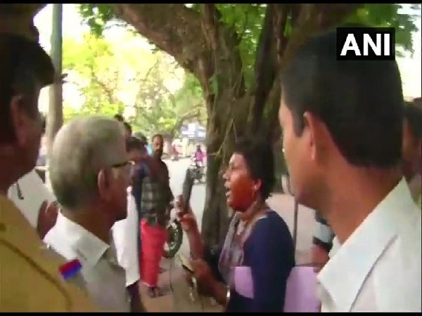 Bindu Ammini, the woman on whom a man sprayed chilli and pepper in Kochi, Kerala on Tuesday.
