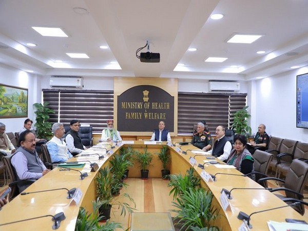 The GoM meeting is underway on COVID-19 is underway in New Delhi on Wednesday. Photo/ANI