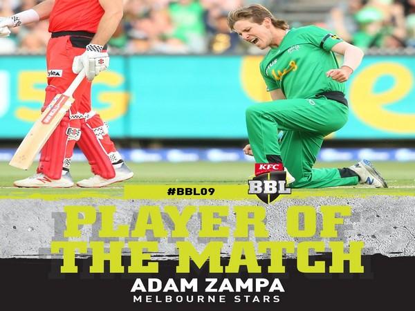 Melbourne Stars' Adam Zampa (Image: BBL's Twitter)