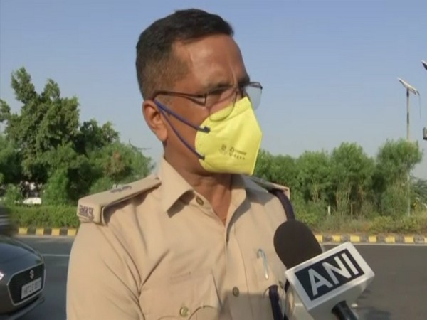 Noida Additional Deputy Commissioner of Police (ADCP) Ranvijay Singh speaking to ANI on Thursday. (Photo/ANI)