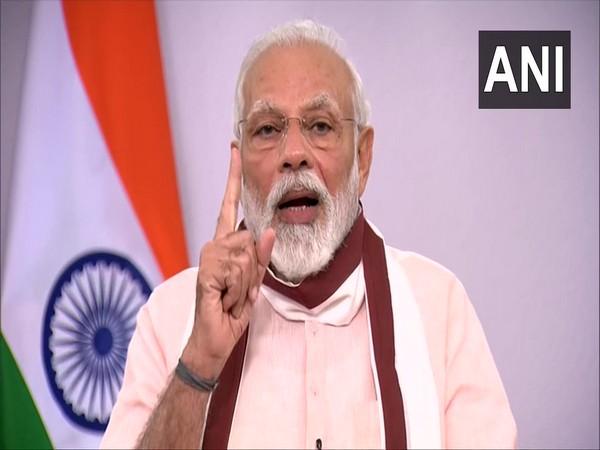 Prime Minister Narendra Modi addressing the nation on Tuesday.     Photo/ANI
