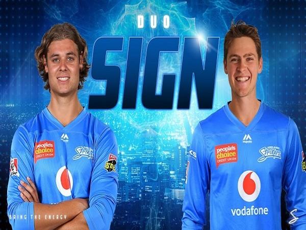 Liam Scott and Spencer Johnson (Image: Adelaide Strikers' Twitter )