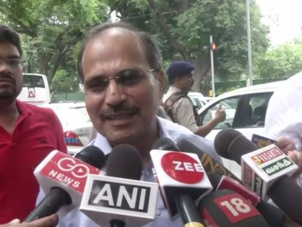 Congress leader Adhir Ranjan Chowdhury addressing medi apersons in New Delhi on Saturday