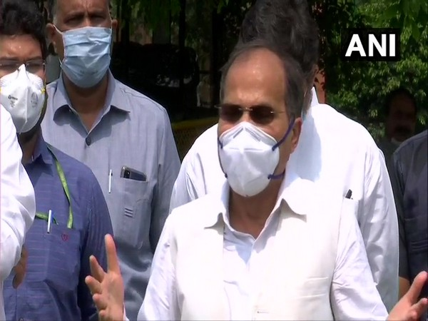 Congress leader in Lok Sabha Adhir Ranjan Chowdhury during a press conference in New Delhi on Monday. (Photo/ANI)