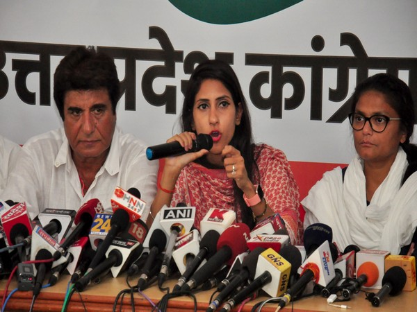 Congress MLA Aditi Singh (in middle) Photo/ANI