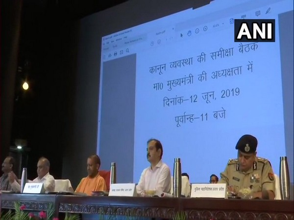 CM Adityanath held review meeting on law and order in Lucknow on Wednesday