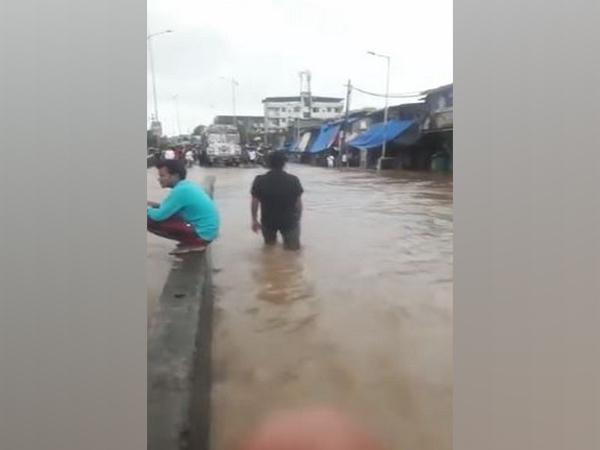 Thane's Bhiwadi area severely waterlogged. (Photo/ANI)