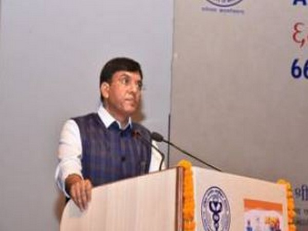 Union Health Minister Mansukh Mandaviya addresses the 66th Foundation Day of AIIMS in Delhi on Saturday.