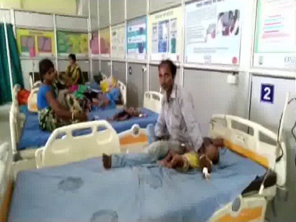 10-month-old AES receiving treatment in Sadar Hospital, Bihar Sharif