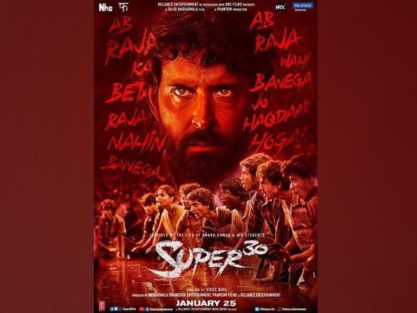 Super 30 poster, Picture courtesy: Instagram