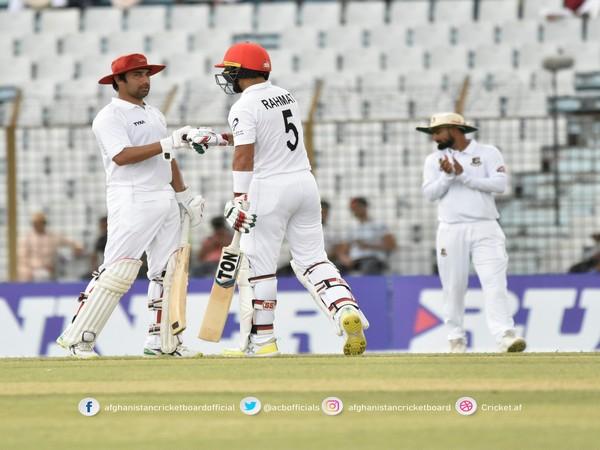 Rahmat Shah and Asghar Afghan in action against Bangladesh (Photo/ ACB Twitter)