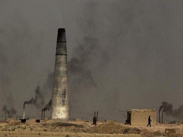 A view of a brick-making factory outside Kabul in Afghanistan.