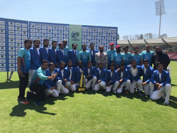 Afghanistan team after their maiden Test match victory (Photo/ICC)