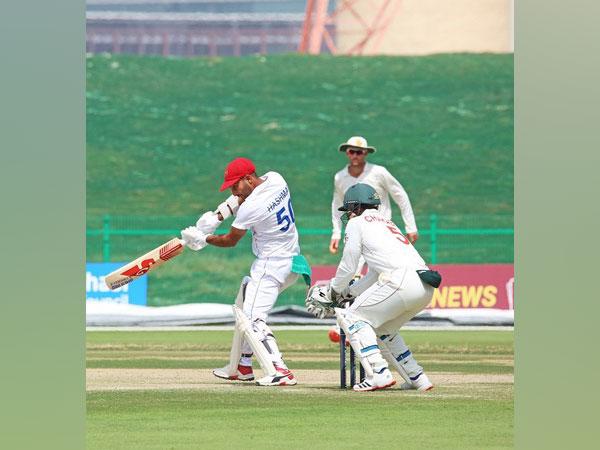 Afghanistan batsman Hashmatuallah Shahidi in action against Zimbabwe (Image: ICC)