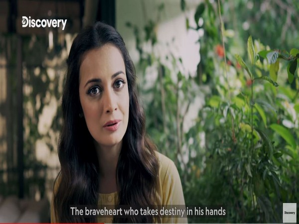 A still from the anthem featuring Dia Mirza (Image courtesy: Youtube)